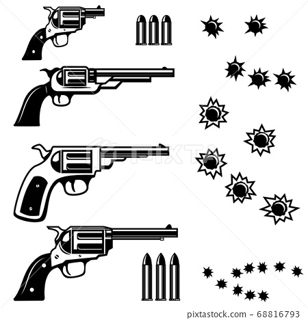 Handguns illustration isolated on white 68816793