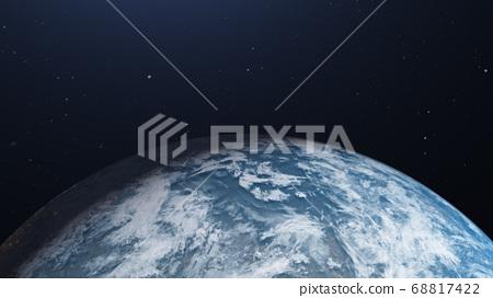 지구 CG perming3DCG 일러스트 소재 68817422