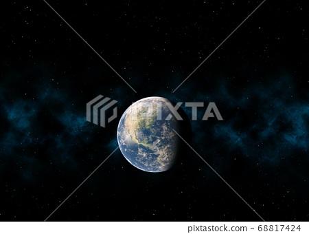 지구 CG perming3DCG 일러스트 소재 68817424