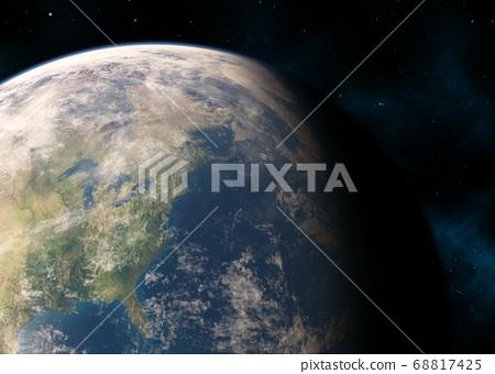 지구 CG perming3DCG 일러스트 소재 68817425