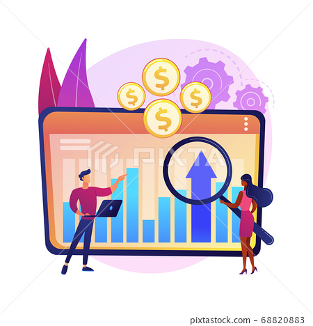 Financial management system abstract concept vector illustration. 68820883