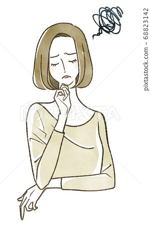 A woman thinking 68823142