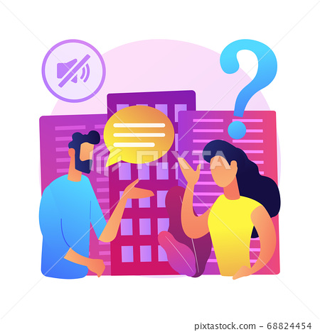 Deafness and hearing loss abstract concept vector illustration. 68824454