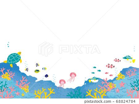 海底鱼图背景图 68824784
