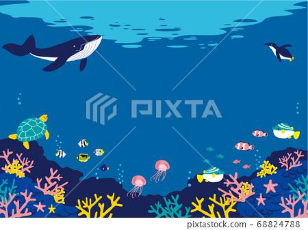 海底魚圖背景圖 68824788