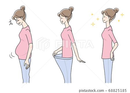 다이어트의 여성 변형 세트 68825185