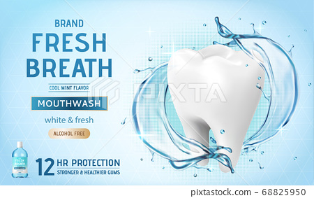 Ad template for mouth wash 68825950