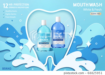 Ad template for mouth wash 68825951