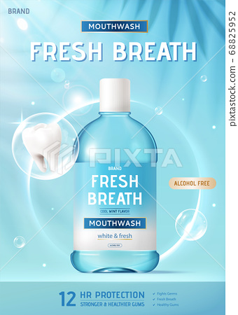 Ad template for mouth wash 68825952
