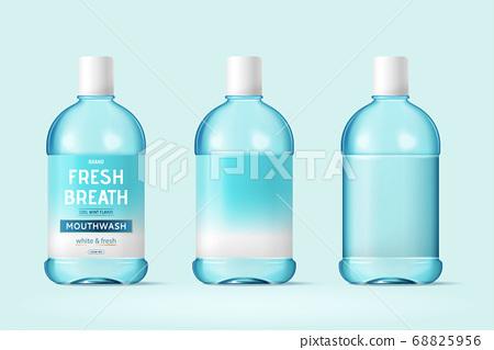 Mouth wash bottle mock-ups 68825956
