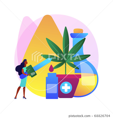 Hemp seed oil abstract concept vector illustration. 68826704