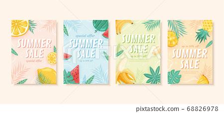 Summer sale brochure template 68826978