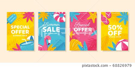 Summer sale brochure template 68826979