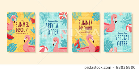 Summer sale brochure template 68826980