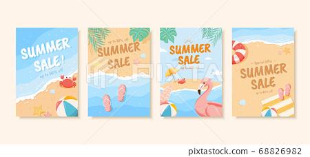 Summer sale brochure template 68826982