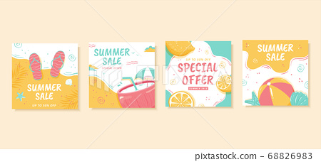 Summer square web banner template 68826983