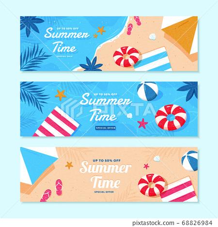 Summer sale banner template 68826984
