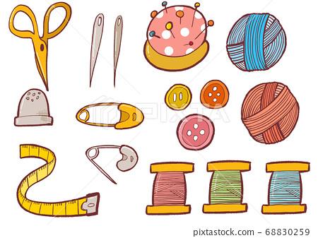 縫紉工藝品針線縫紉切割工具圖 68830259