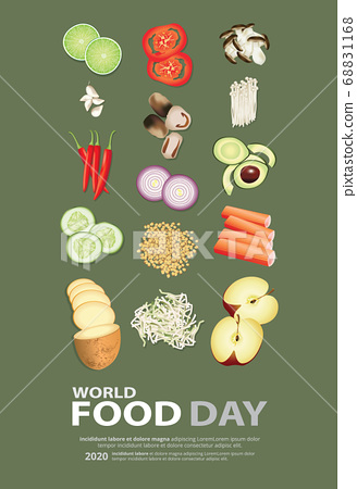 World food day Poster Design Template Vector Illustration 68831168
