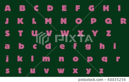 Illustration alphabet EDDIE pink 68835256