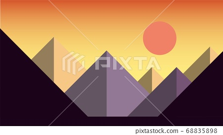 Simplicity sunset at mountains landscape. 68835898