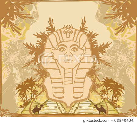 abstract grunge frame - Great Sphinx of Giza 68840434