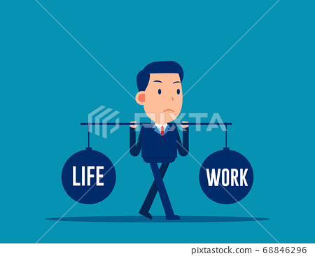 Business people balance between life and work 68846296