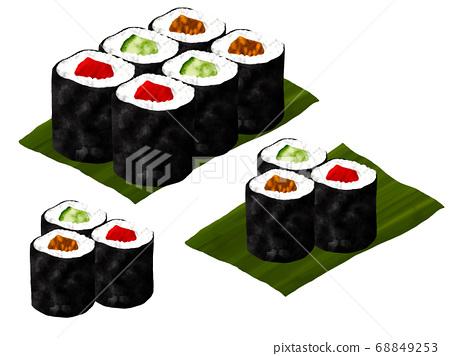 asiático saltar Compañero  Maki sushi, Kappa maki, Tetsugaki maki, Kanpyo... - Stock Illustration  [68849253] - PIXTA