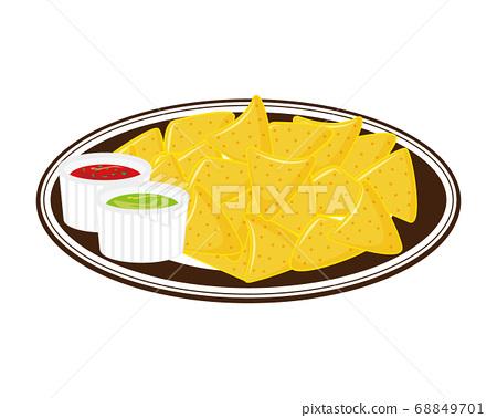 玉米餅的矢量圖玉米片 68849701