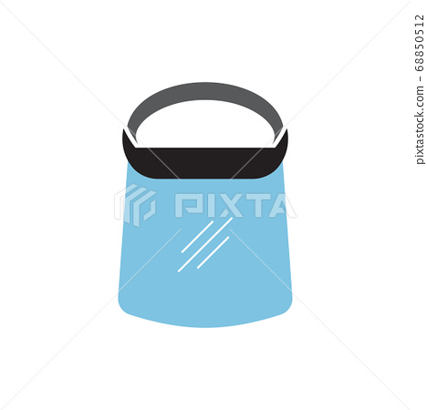 Face shield icon design template vector isolated 68850512