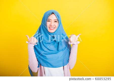 Asian Muslim Arab woman Islam wear hijab she made 68853295