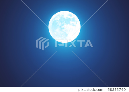 Night with Full Moon - Beautiful dark wallpaper with copy space 68853740