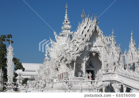 wat rong khun or so called white temple in chiang mai. one of landmark in thailand  68856000