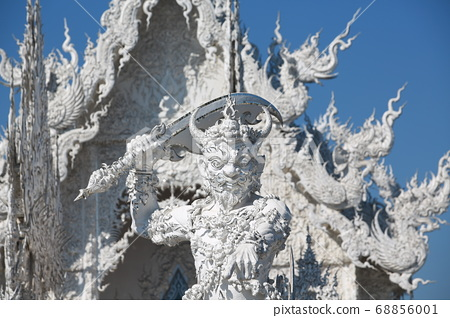 wat rong khun or so called white temple in chiang mai. one of landmark in thailand  68856001