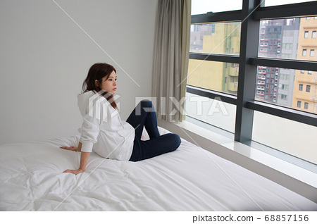 do nothing the woman when she work from home 68857156