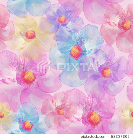 Seamless floral design  for background, Endless 68857805