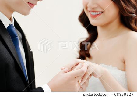 Happy Bride and Groom  68859227