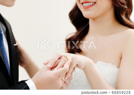 Happy Bride and Groom  68859228