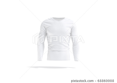 Blank white longsleeve t-shirt mockup, front view 68860008