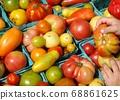 紐約農貿市場的有機番茄 68861625