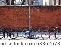 連續停車,在紐約騎自行車。 68862678
