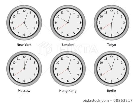 Time Zone Clocks Modern Wall Round, Big Round Clock