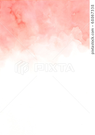 Hand painted abstract orange and pink watercolor 68867338