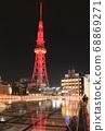 紅色發光電視塔(垂直) 68869271