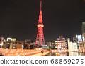 紅色發光電視塔(側面) 68869275