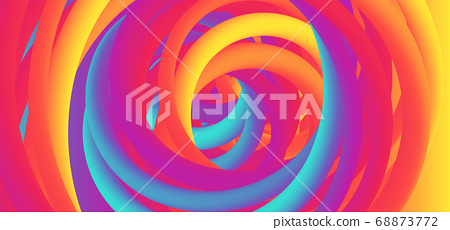 Colorful background rainbow design swirl curve 68873772