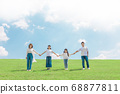 Family image Hold hands 68877811