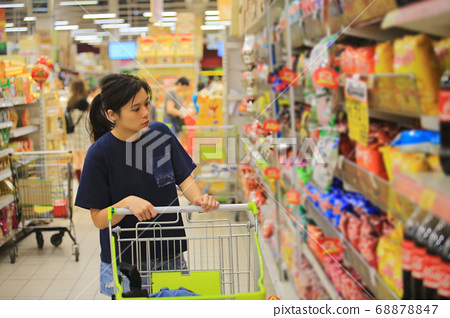 woman shopping in the thailand supermarket 68878847