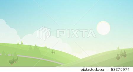 早晨的風景日本紙紋理[16:9] 68879974