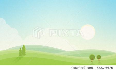 아침의 풍경 종이의 감촉 [16 : 9] 68879976